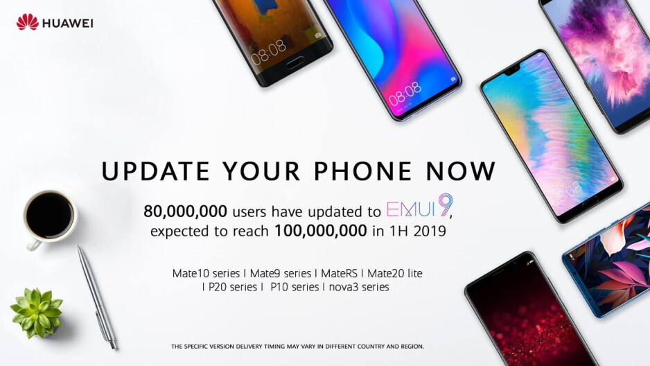Huawei already has 80 million devices running Android 9 Pie
