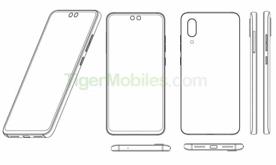 A smartphone with two punch holes could be on the way