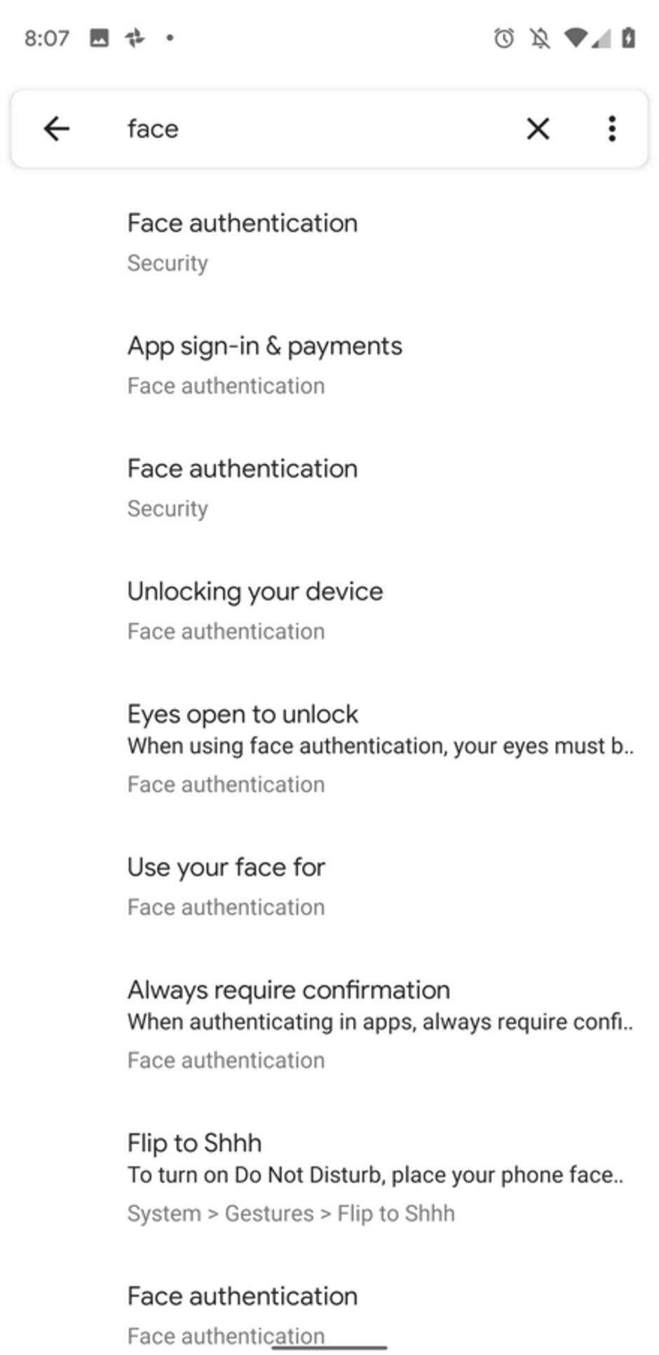 Hidden settings page for Android Q's Face authentication - Hidden 'Face authentication' settings found in latest Android Q Beta