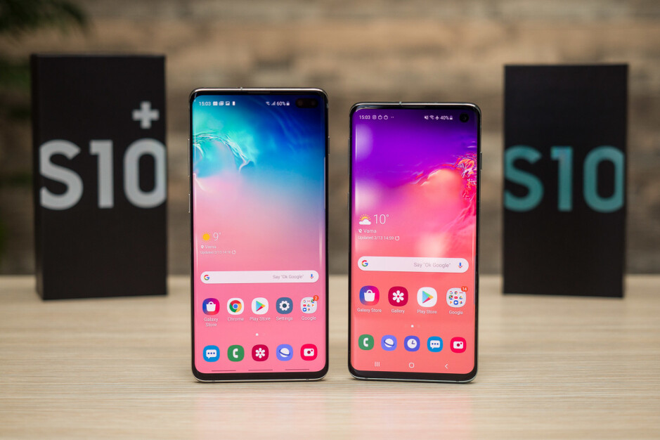 S10+ on the left, S10 on the right - Vote for your favorite phone of the first half of 2019 here!