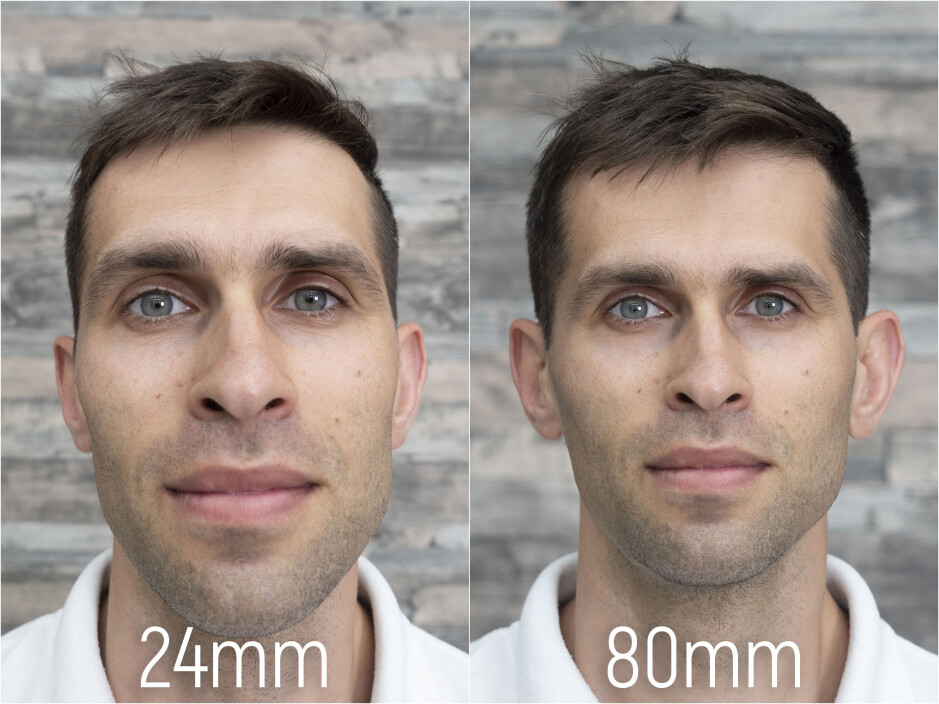 A bad lens (left) vs a proper lens for portraits (right), guess which one are modern smartphones using? - OnePlus 7 Pro has the best camera for portraits