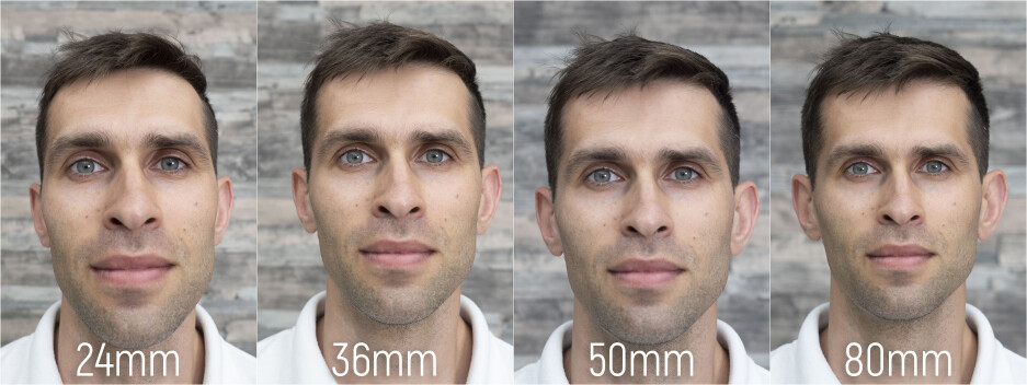 The proportions of the human face change dramatically as you shoot at different focal lengths - OnePlus 7 Pro has the best camera for portraits