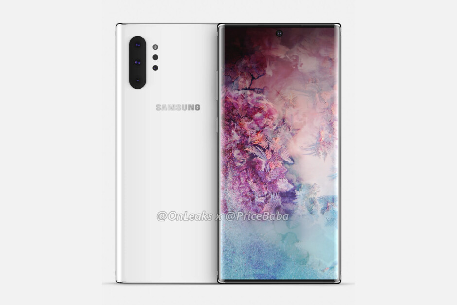 Samsung Galaxy Note 10 Pro CAD-based render - This Galaxy Note 10 leak points towards insanely thin bezels