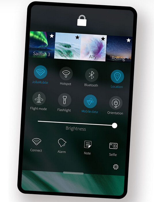 The Aurora operating system is based on Sailfish OS, pictured here - Huawei is reportedly testing a Russian operating system to replace Android