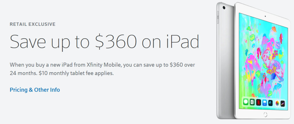 Save $360 on select Wi-Fi + Cellular versions of the Apple iPad from Xfinity Mobile - Xfinity Mobile has an absolutely bonkers deal on select Apple iPad models