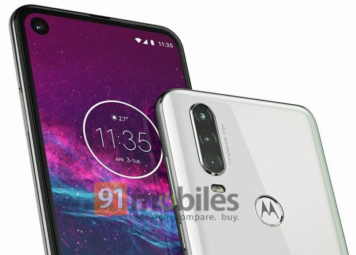 Motorola One Action - Motorola One Action images leak out flaunting the triple camera and pierced display