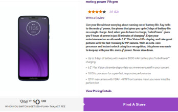 Motorola's Moto G7 Power is free at Metro by T-Mobile (new