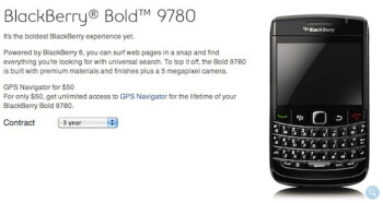 Bell customers can now pick up the BlackBerry Bold 9780 for $124 with a 3-year contract.