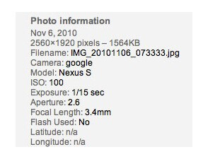 Test pictures from Samsung Nexus S found online
