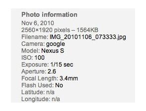Test pictures from Samsung Nexus S found online