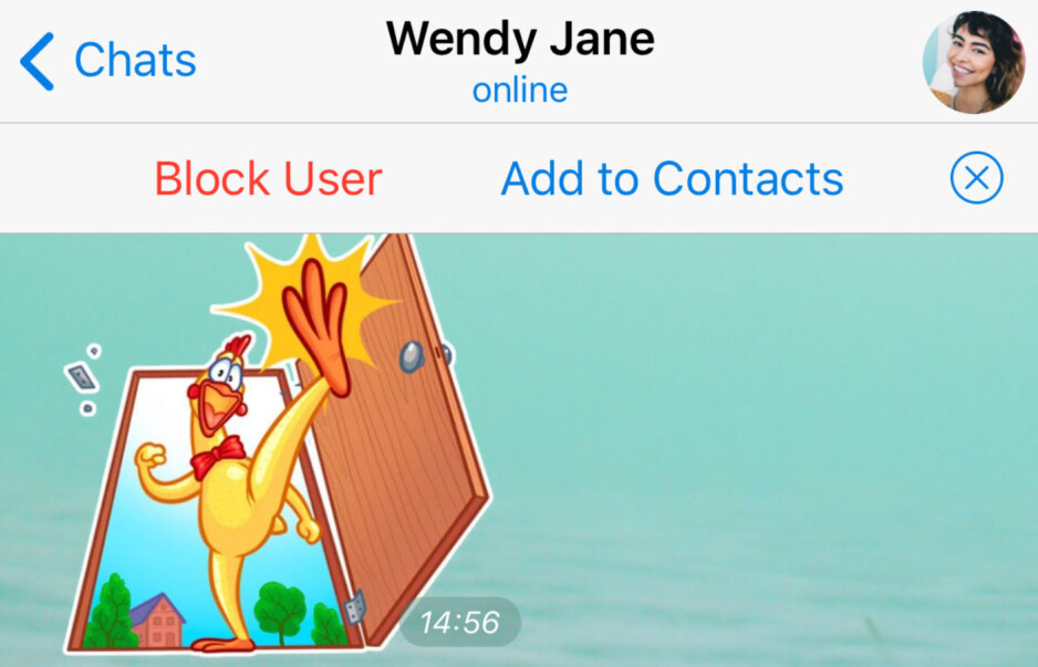 Version 5.8 of Telegram allows users to quickly add someone to their contacts - Telegram update adds location-based chats and much more