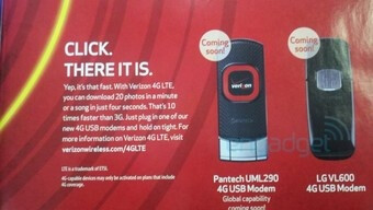 LTE (4G) is coming soon to Verizon - Leaked ad shows off Verizon's first two LTE modems
