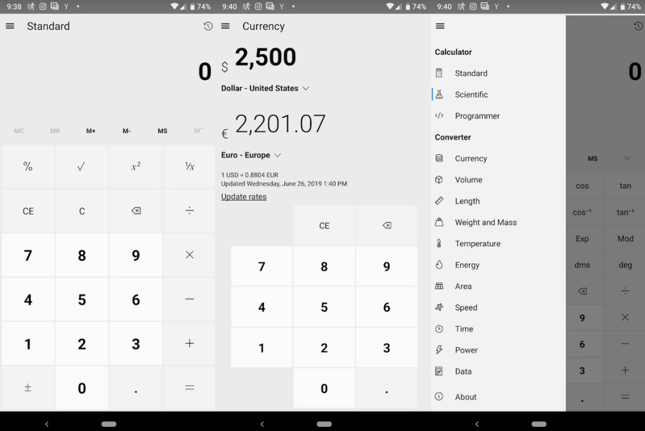 The Windows 10 calculator app has been ported to Android, iOS and the web - Like the Windows 10 calculator? You can now add it to your Android handset or iPhone