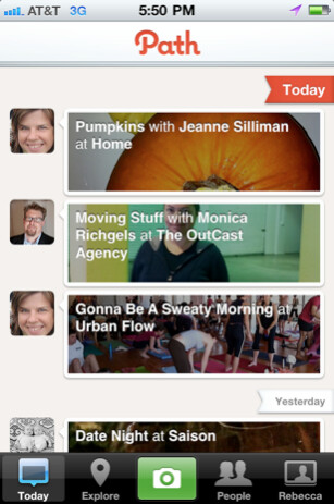 Path photo sharing app arrives for the iPhone