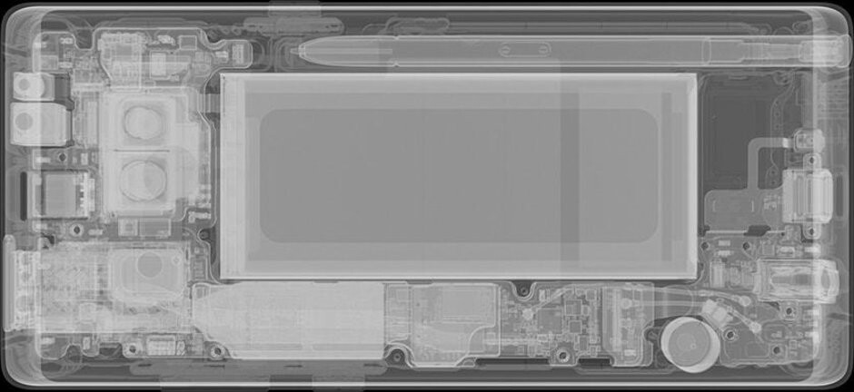 Galaxy Note 8 with S Pen, image courtesy of iFixit - Galaxy Note could have had 800mAh bigger battery and better cameras had Samsung removed the S Pen