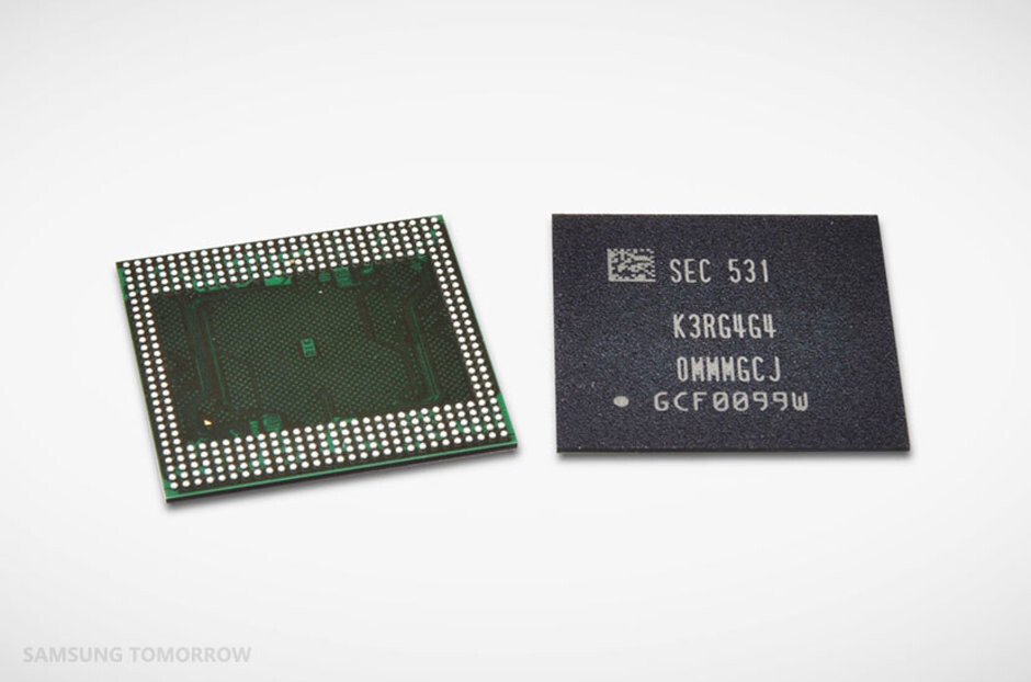 Samsung's 12GB LPDDR4 DRAM chip - Samsung's chip business was hit hard by U.S. ban on Huawei