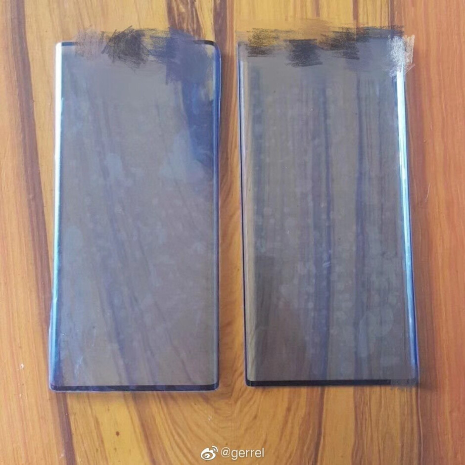 Photo allegedly shows protective film cover for the Huawei Mate 30 and Mate 30 Pro - Photo claims to show Huawei Mate 30 and Mate 30 Pro protective film