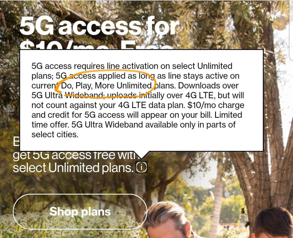 Verizon might launch three new Unlimited plans, 5G access is included for a fee