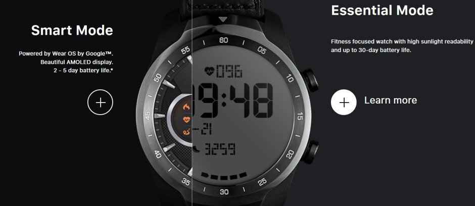 The TicWatch Pro has different functionality depending on the mode being used - Mobvoi video teaser tips a July 10th unveiling of the TicWatch Pro LTE