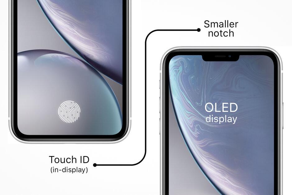 بصمة داخل الشاشة - هواتف ايفون الجديدة 2020