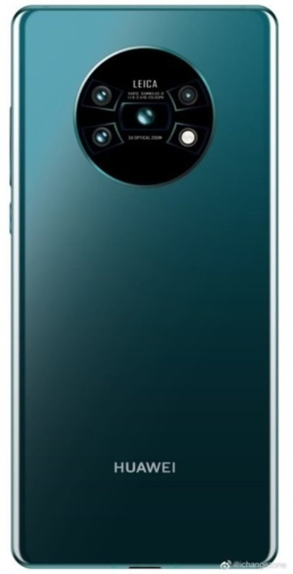 """Render allegedly showing the rear panel of the Huawei Mate 30 Pro - Did Trump jump the gun when it comes to Huawei? Google's silence """"says"""" it all"""