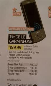 Now free, the T-Mobile Garminfoned was first priced at a high-end benchmark price after launch