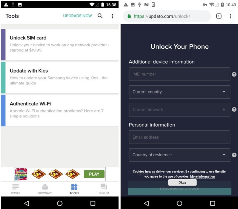 For another charge, you can have your phone unlocked - Don't get ripped off by this fake app; over 10 million have already installed it
