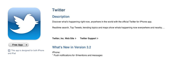 New upgrade for iOS version of Twitter