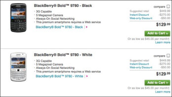BlackBerry Bold 9780 now on T-Mobile