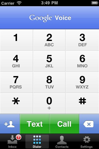 Google Voice for Apple's iPhone