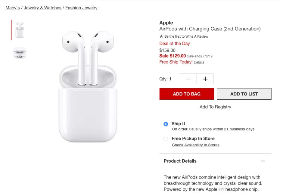 Apple's second-gen AirPods with charging case can be yours at a cool $30 discount (if you hurry)