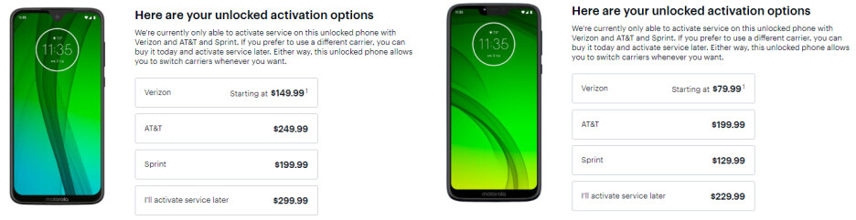 Motorola Moto G7, G7 Power, and G7 Play are now super cheap with a new Verizon line