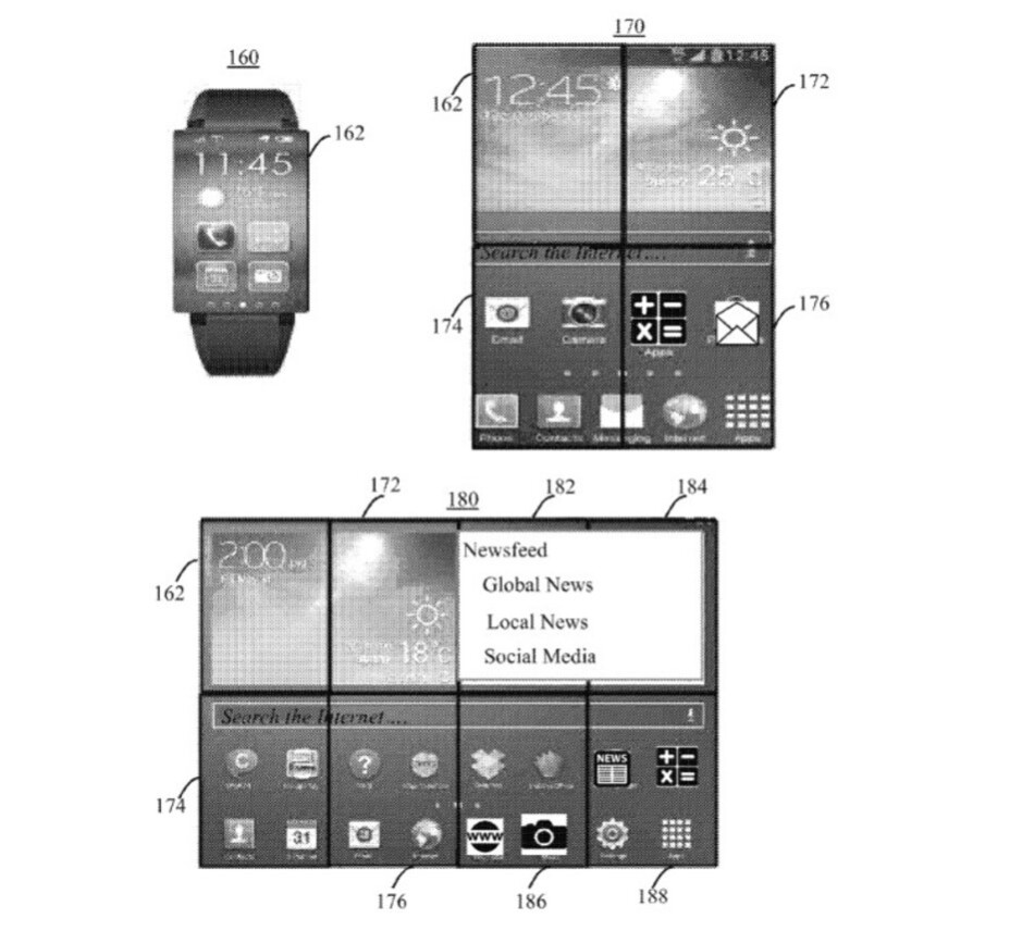 Illustrations from IBM's patent - IBM patents a smartwatch that becomes a phone and a tablet