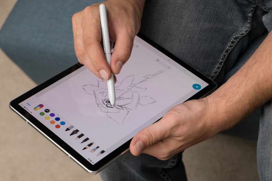 Last year's Galaxy Tab S4 - This is allegedly the Galaxy Tab S6, Samsung's next high-end tablet