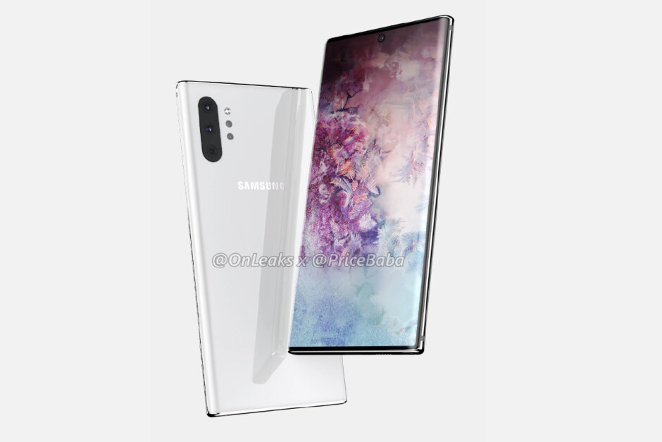 Samsung Galaxy Note 10+ vs. Note 10 CAD-based render - Samsung's Galaxy Note 10 5G will reportedly be a Verizon exclusive