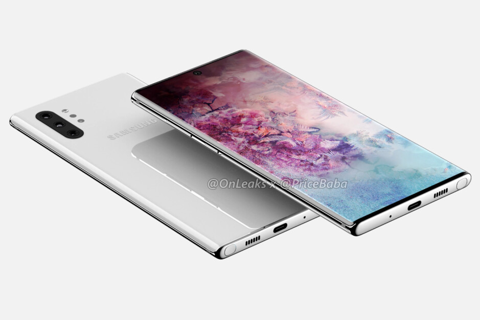 Samsung Galaxy Note 10+ CAD-based render - Samsung's Galaxy Note 10 5G will reportedly be a Verizon exclusive