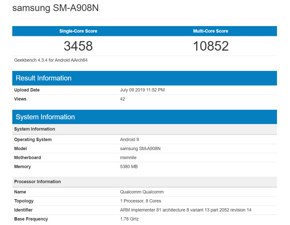 Huge Samsung Galaxy A90/5G battery revealed, flagship specs corroborated