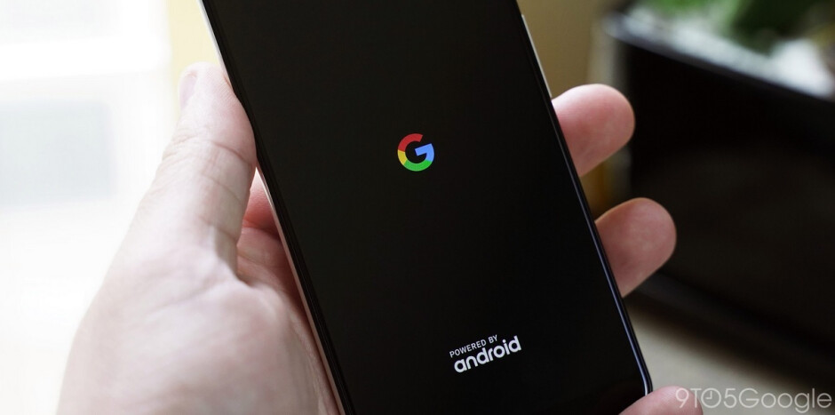 Dark boot on the Pixel 3 running Android Q beta 5 - Google adds a dark boot screen to some Pixel models in Android Q beta 5