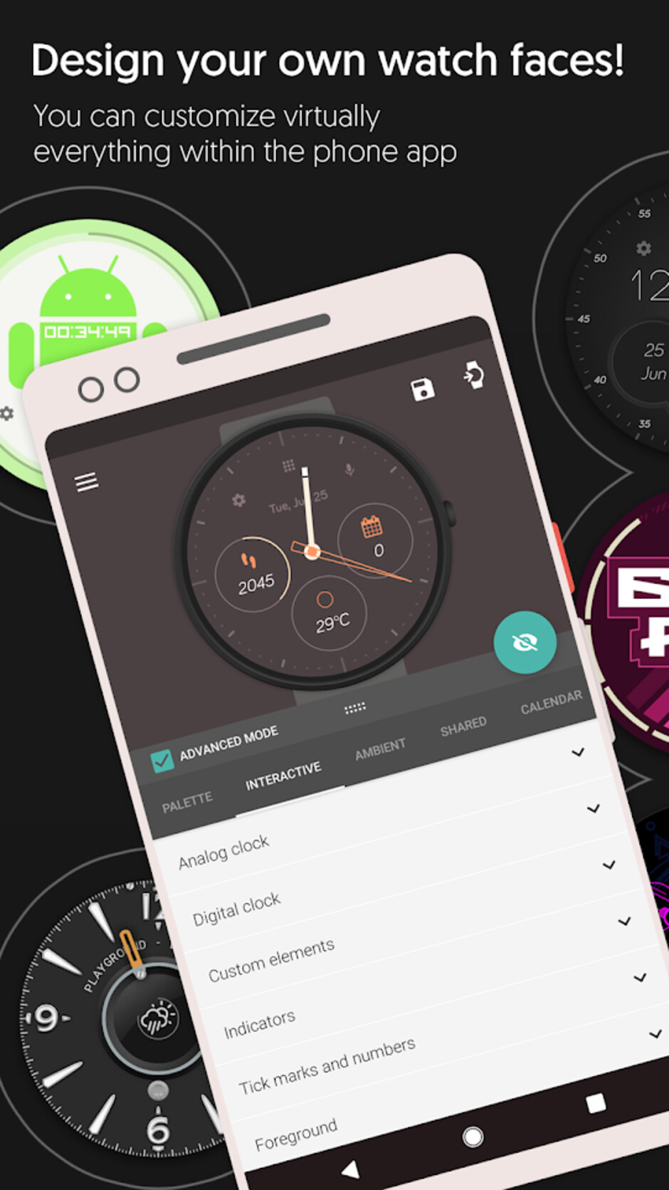 Pujie Black - Samsung Galaxy / Gear watches get thousands of new watch faces via Pujie Black