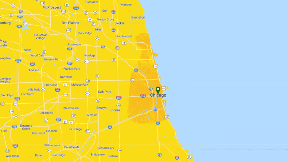 Chicago 5G coverage as of July 11th, 2019 - Sprint expands its 5G network to one more city in the US