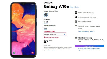 AT&T is now selling the Samsung Galaxy A10e