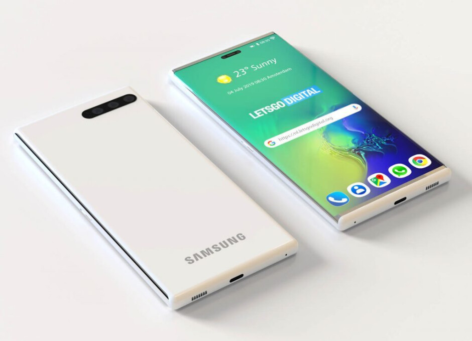 With the hidden screen retracted, the device looks just like any ordinary smartphone - Samsung's patent shows a phone using a slide-out screen to become a tablet