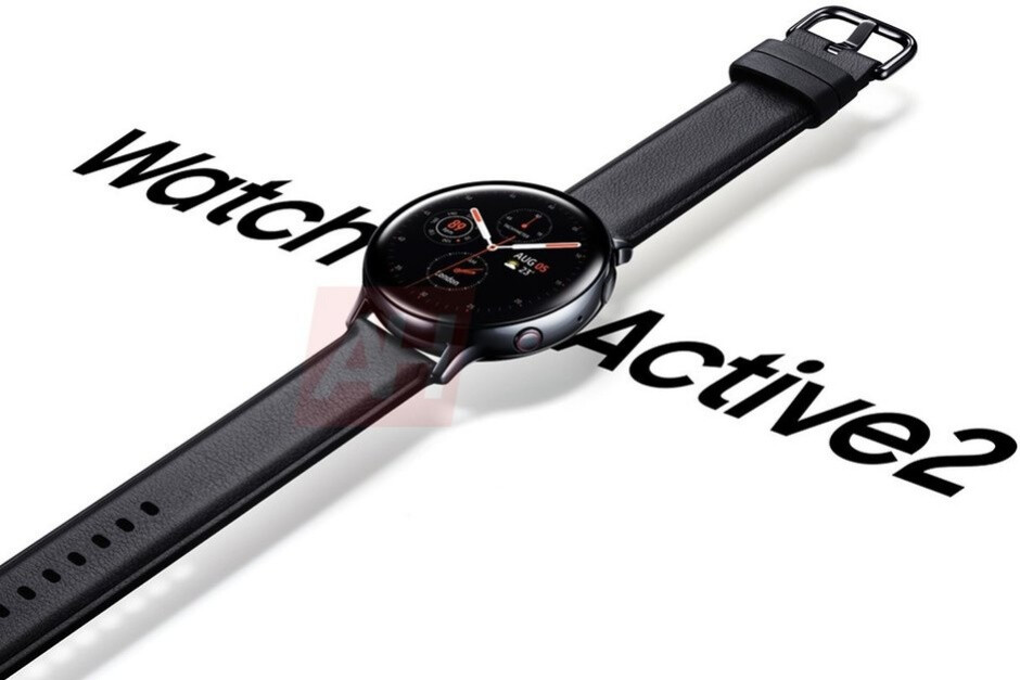 That's one classy leather band for this LTE-enabled Galaxy Watch Active 2 model - Samsung will release the Galaxy Watch Active 2 soon... with its best feature disabled until 2020