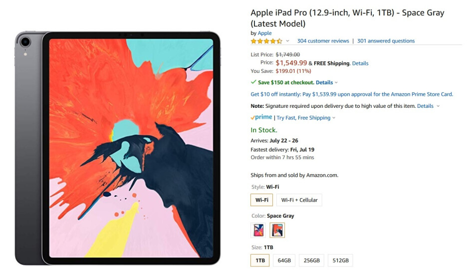 Save up to $350 on a Wi-Fi only 12.9-inch Apple iPad Pro at Amazon - Amazon takes up to $350 off Apple's best tablet