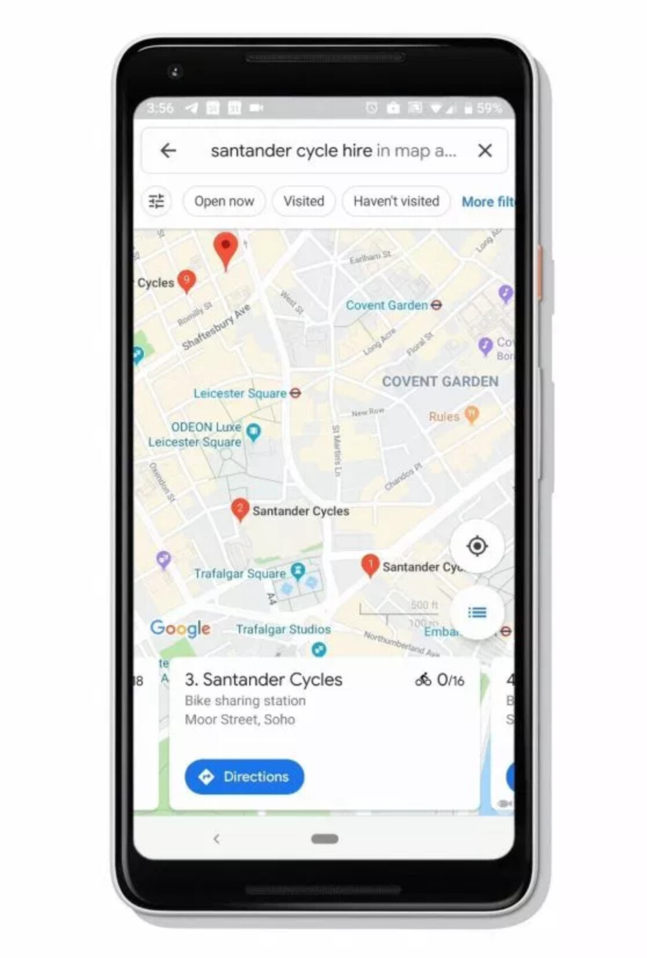 Google Maps will now show you bike sharing stations and number of available bikes in real time