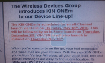 Verizon relaunching the KIN duo today, this time as feature phones