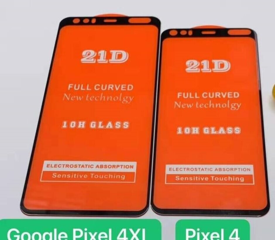 Screen protectors for the Pixel 4 and Pixel 4 XL show a mysterious cutout on the top bezel - Accessory for Pixel 4 series hints at exciting new feature for Google's upcoming phones