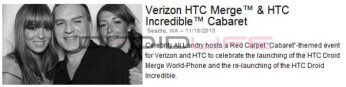 Verizon-bound HTC (DROID?) Merge was set to be announced in the next few hours?