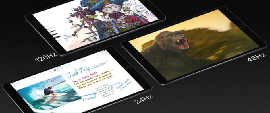 Apple's ProMotion display on the iPad Pro features a 120Hz refresh rate - Apple is reportedly thinking about doubling the refresh rate on next year's iPhone displays