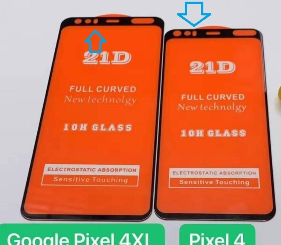 """Arrows show where the facial recognition sensors are rumored to reside on the new Pixel 4 line - Google is collecting """"faces"""" in various cities for a major Pixel 4 feature"""